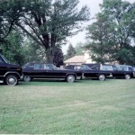 Steadman's fleet of vintage funeral service vehicles