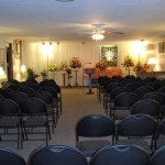 Chapel Setup for Funeral