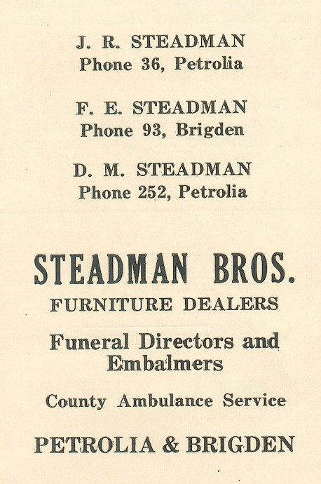 Steadman Brothers Advertisement from 1935
